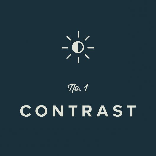 Contrast: Design Principle No. 1