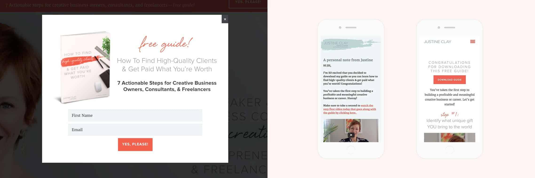 mockups of web design