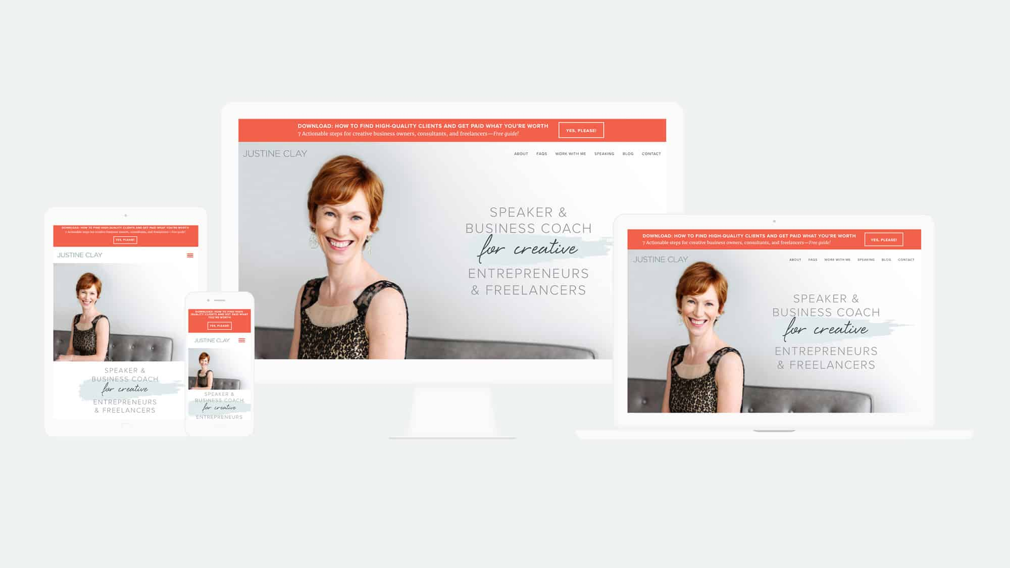 mockups of responsive web design