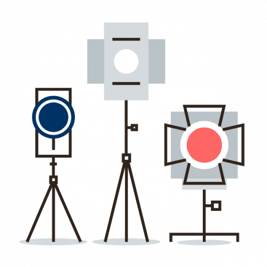 photography lights icon