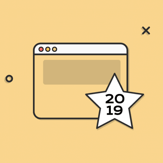 website with 2019 date icon