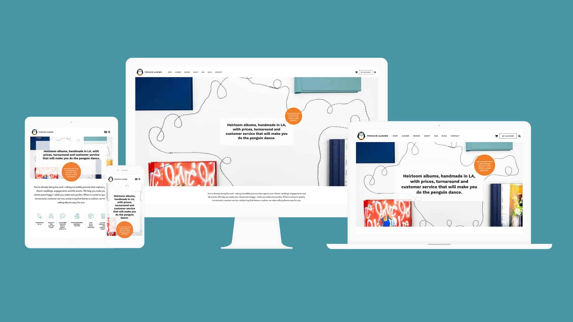 screenshots of responsive WordPress website