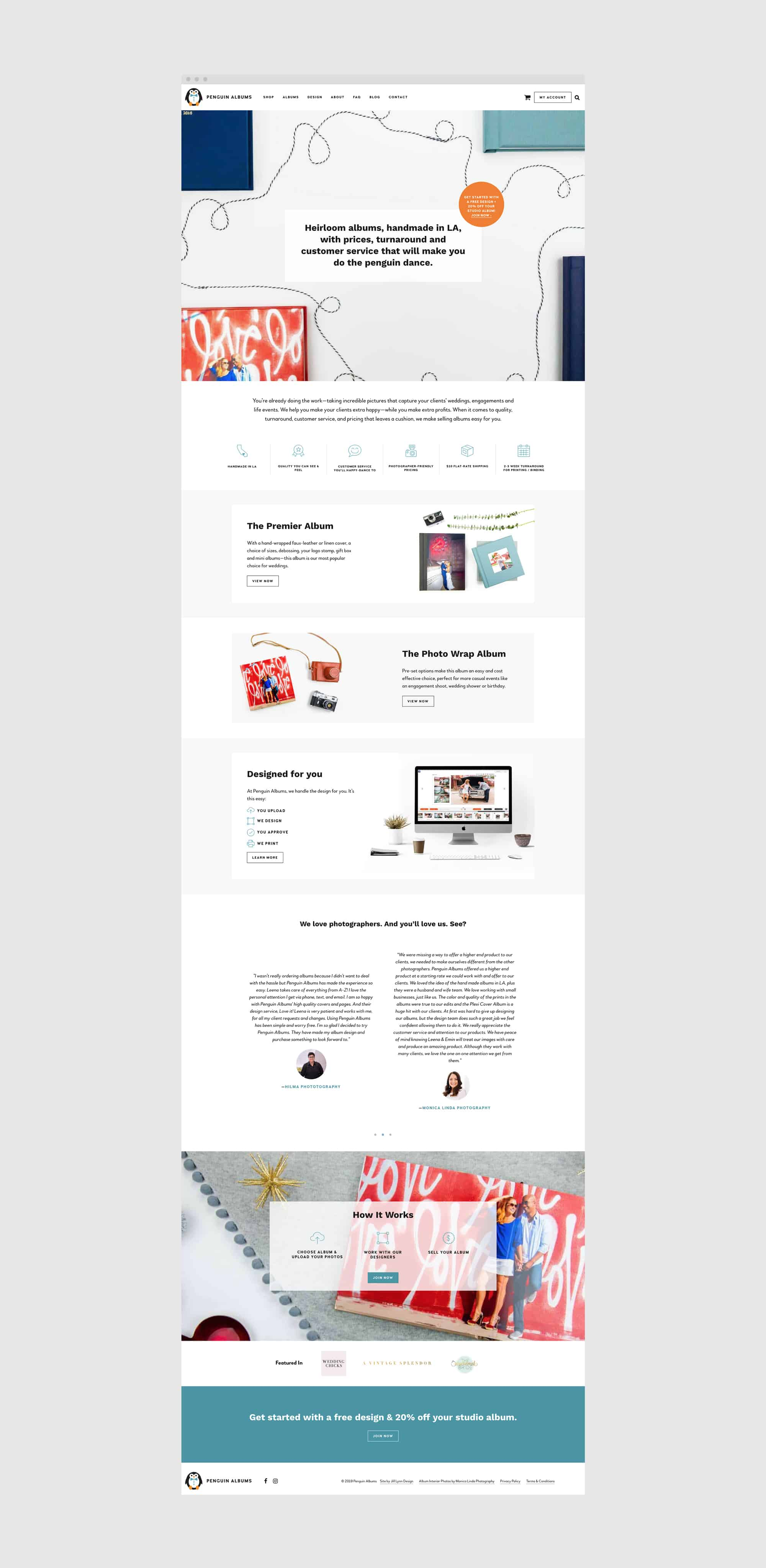 mockup of WordPress web page