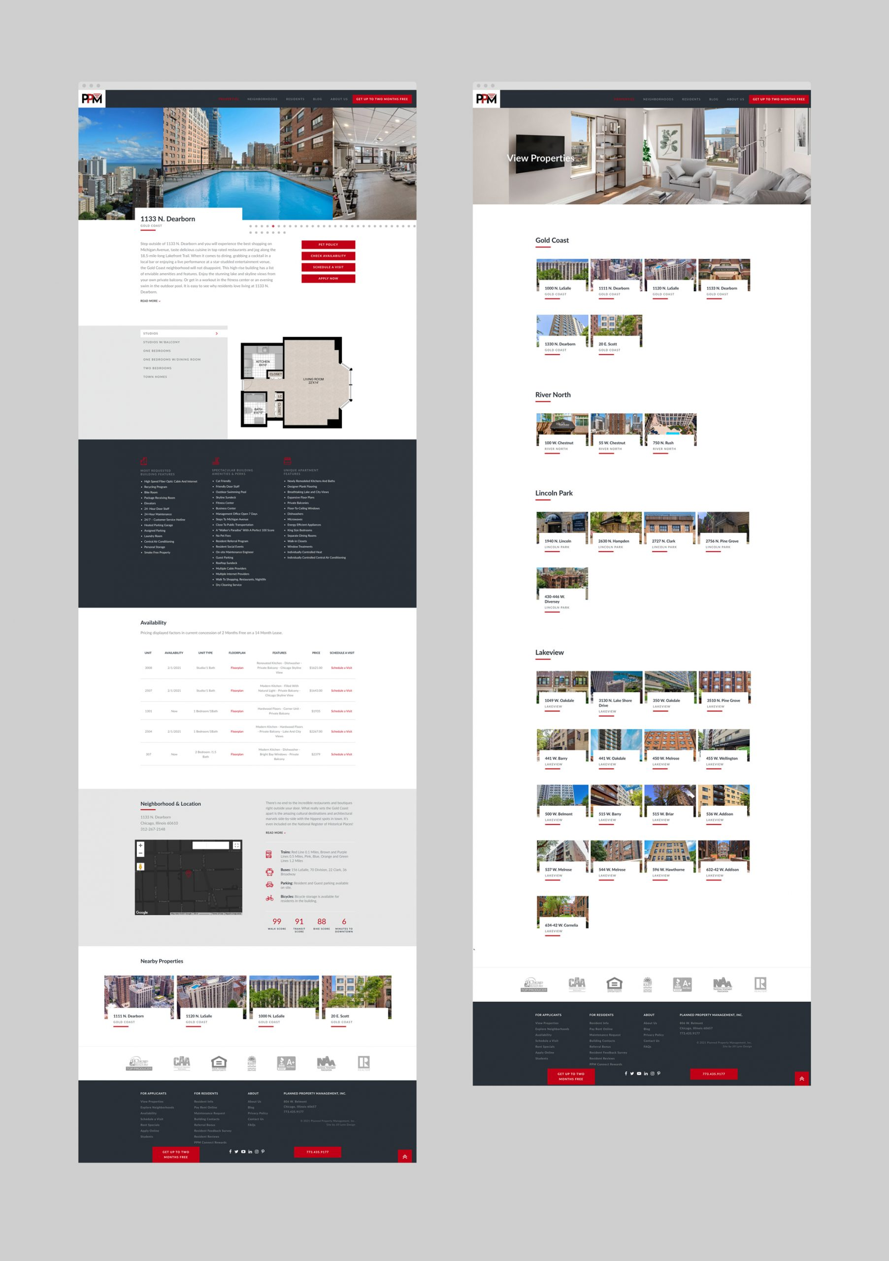 PPM Apartments WordPress pages
