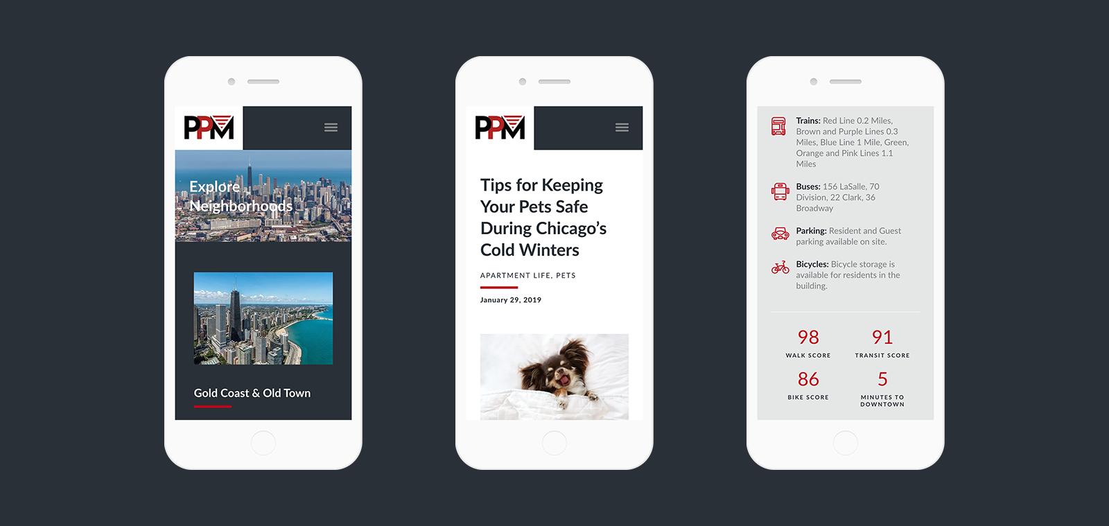 PPM Apartments responsive WordPress design