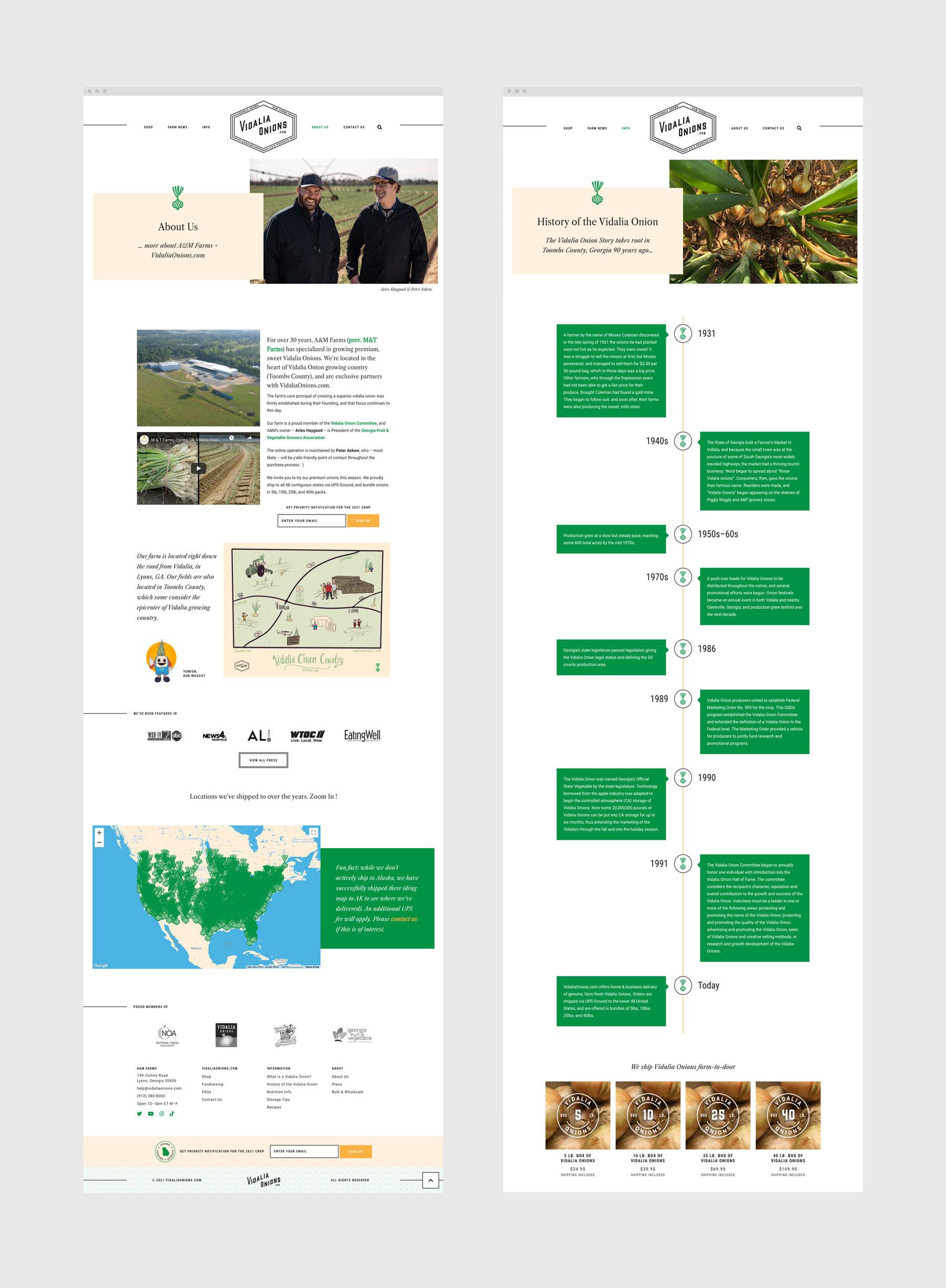 Vidalia Onions WordPress design